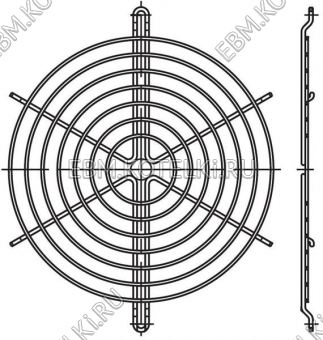 Защитная решетка вентилятора ebmpapst 04013-2-4039